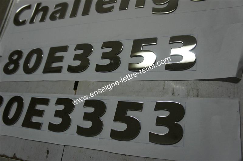 lettre boîtier inox poli miroir 216