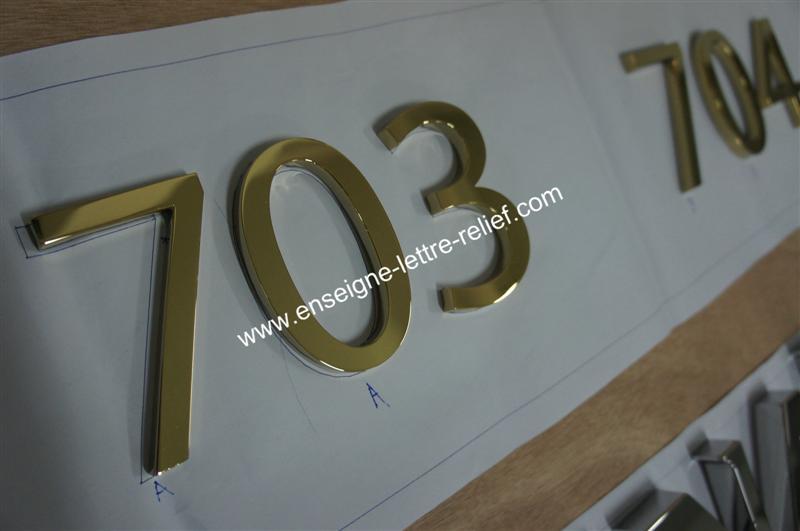 lettre boîtier inox poli miroir 219